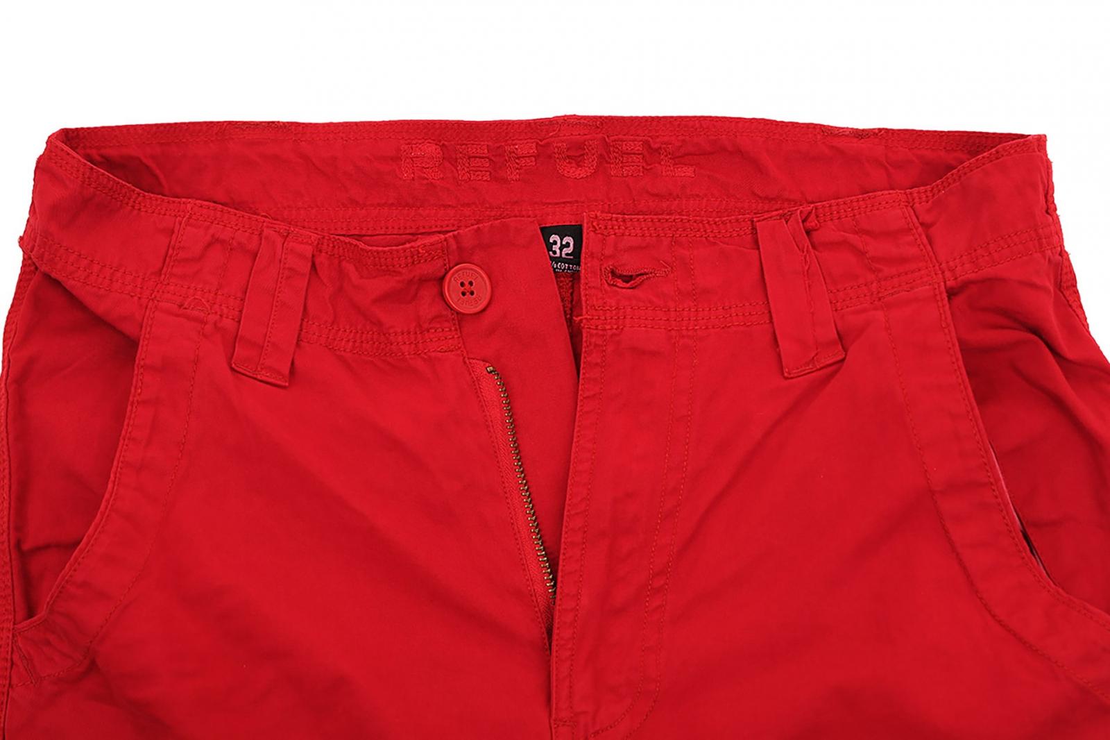 Модные мужские шорты красного цвета с доставкой