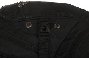 Модный черный рюкзак с нашивкой Герб России купить оптом