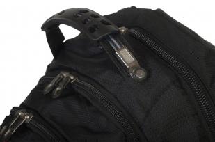 Модный черный рюкзак с нашивкой Герб России купить в розницу