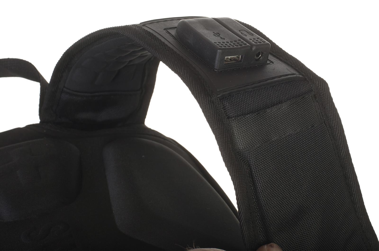 Модный черный рюкзак с нашивкой Герб России купить по лучшей цене