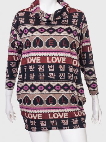 Модный трикотажный свитер ZB