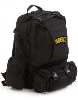 Модульный черный рюкзак Assault с нашивкой МВД - купить выгодно