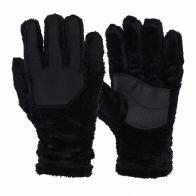 Мохнатые зимние перчатки с усиленными элементами