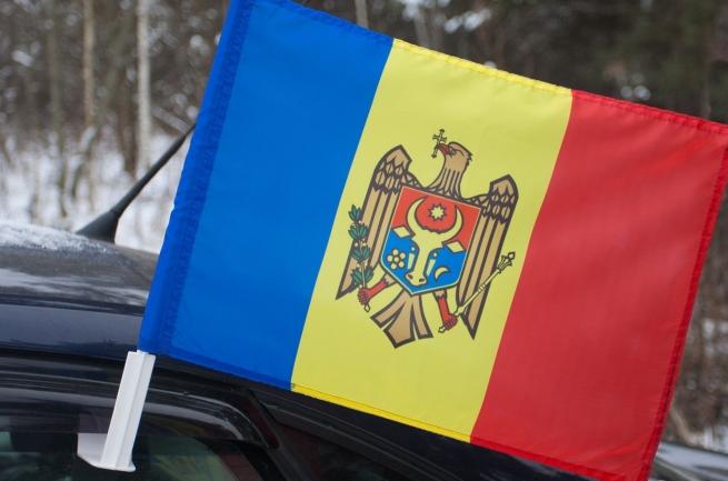 Молдавский флаг на машину
