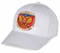 Молодежная актуальная бейсболка из хлопка с авторским принтом государственной Российской символики для болельщиков - уникальная в своем роде. Покупайте только в Военпро