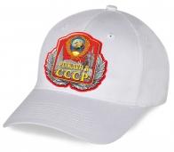 Молодежная белая бейсболка Рожден в СССР - купить в Воепро