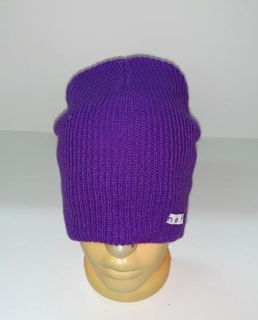 Молодежная фиолетовая шапка