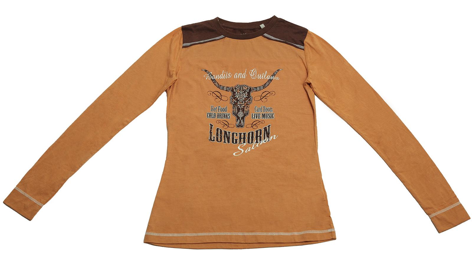 Молодежная кофточка LONCHORN Saloon с головой буйвола от Panhandle Slim