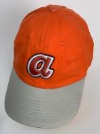 Молодежная оранжевая кепка с серым козырьком