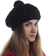 Молодежная шапка-беретка для девушек. Подчеркнет твою индивидуальность, создаст правильный образ. Быстрее заказывай!