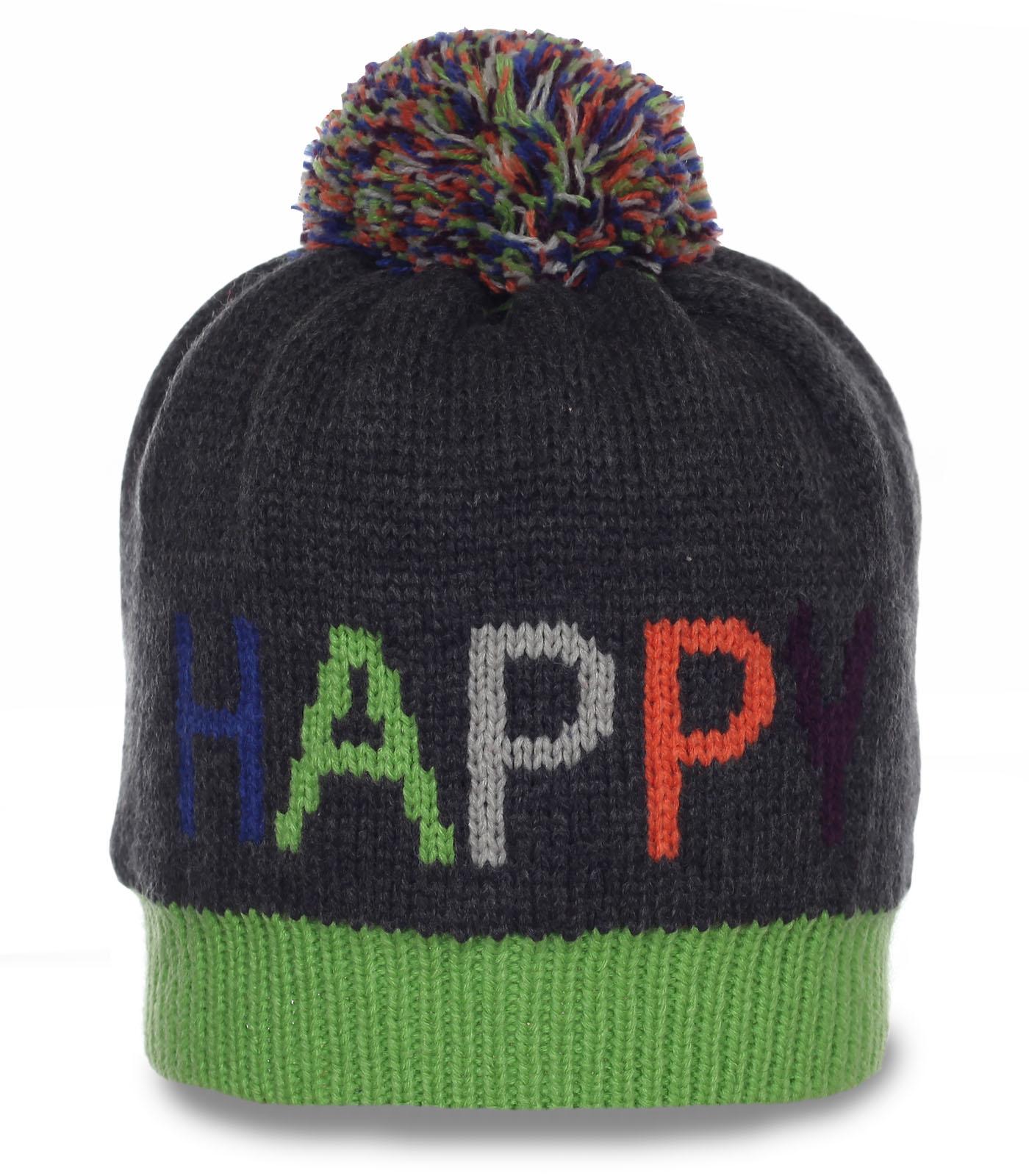 Молодежная шапка Happ. Выбор спортсменов и ценителей активного отдыха. Заказывайте!