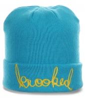 Молодежная шапка яркого цвета. Современная и теплая модель отличного качества. Заказывайте!