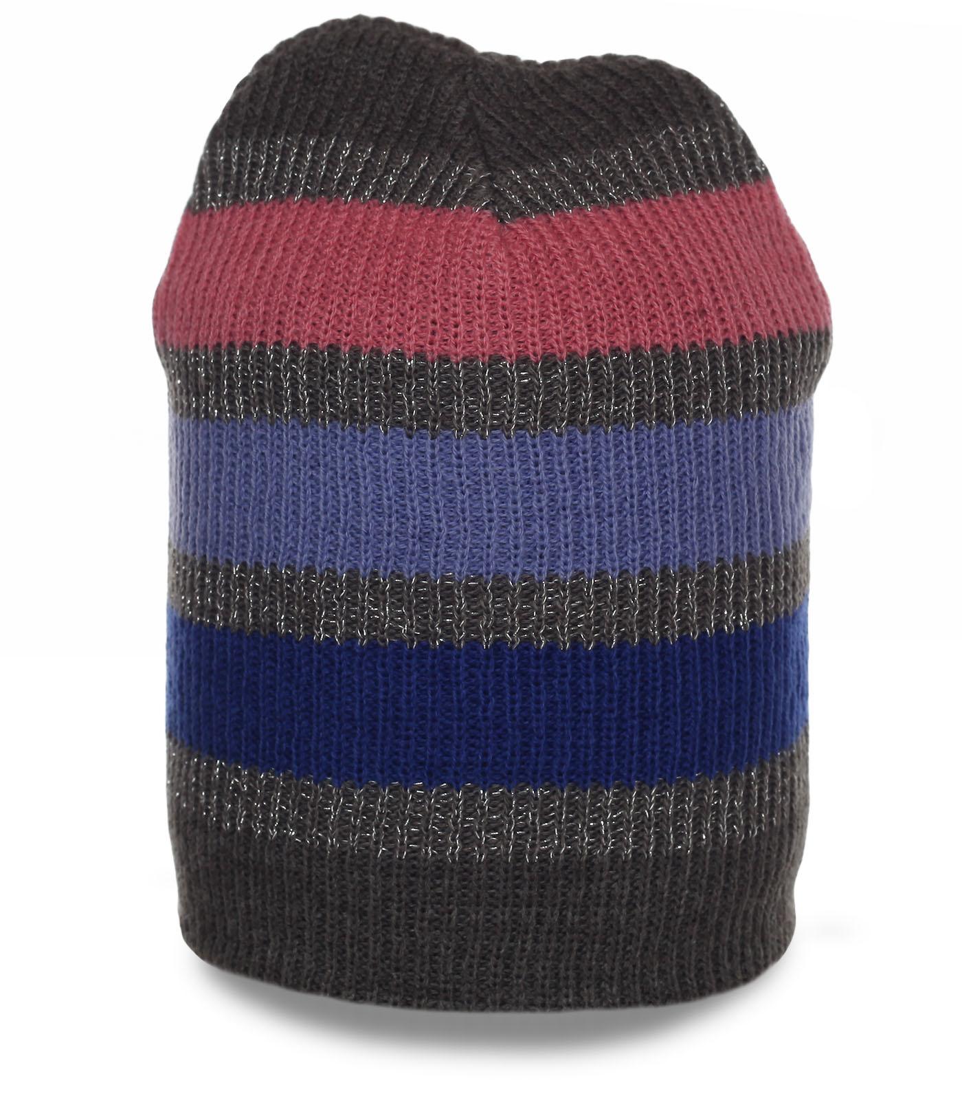 Молодежная шапка модного дизайна. Теплый головной убор для холодного периода. Эксклюзив!