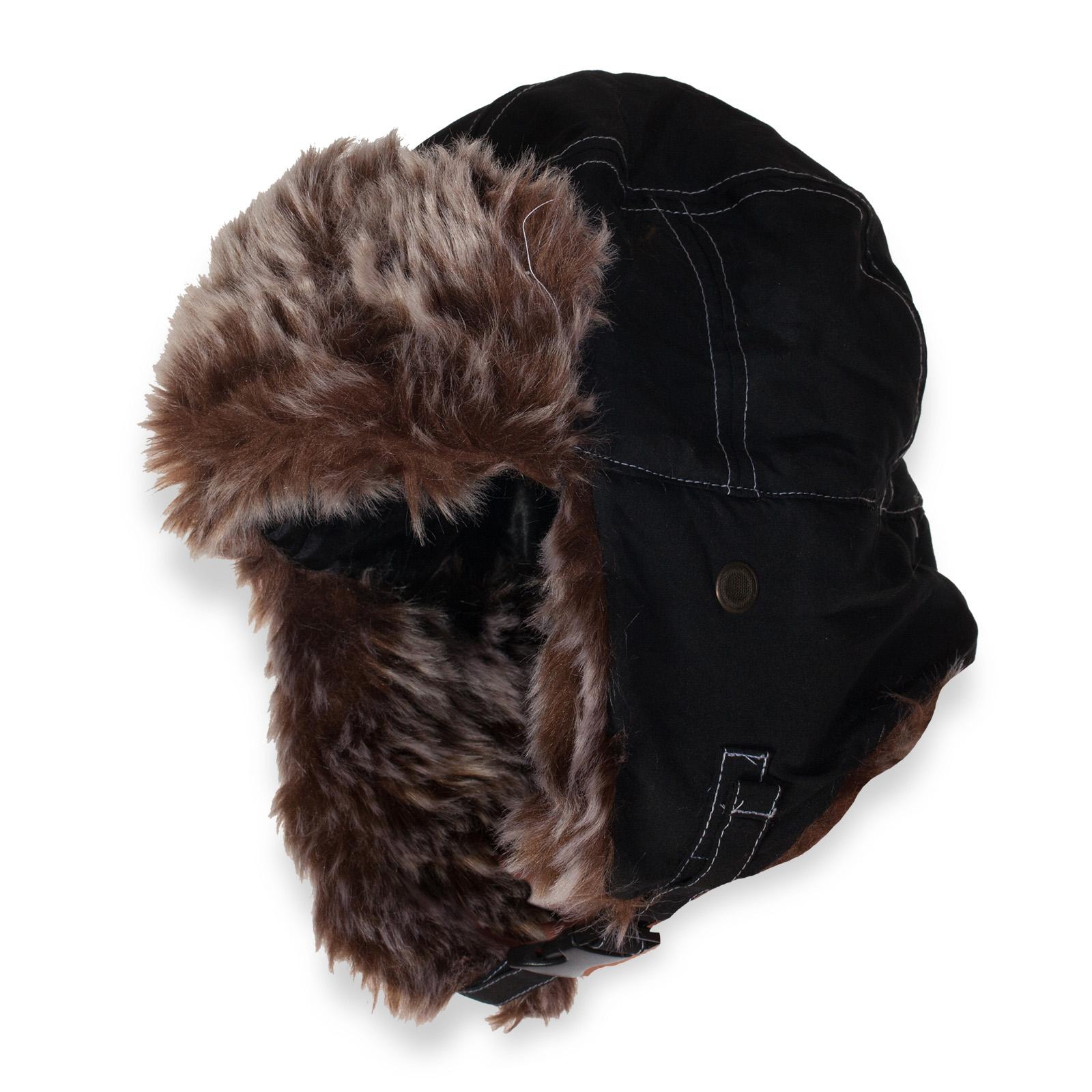 Молодежная шапка на искусственном меху