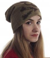 Молодежная шапка с черепом для классных девушек