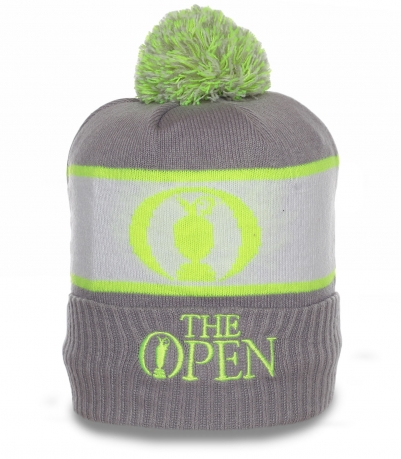 Молодежная шапка The Open. Контрастная теплая модель на флисе по привлекательной цене