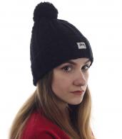 Молодежная шапочка для девушек с активным образом жизни. Теплая вязаная модель современного дизайна