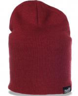 Молодежная удлиненная женская шапка бренда Neff и качественная и модная и комфортная