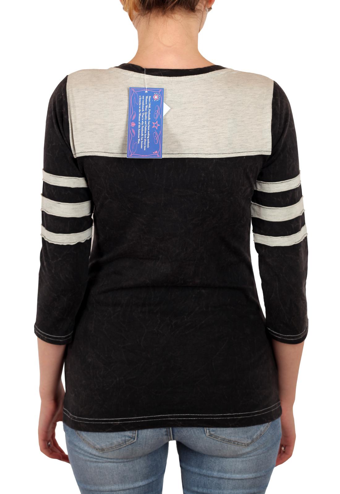 Молодежная женская кофта с рукавом ¾. Тренд сезона от бренда Panhandle. Яркий принт + нашивки-заплатки