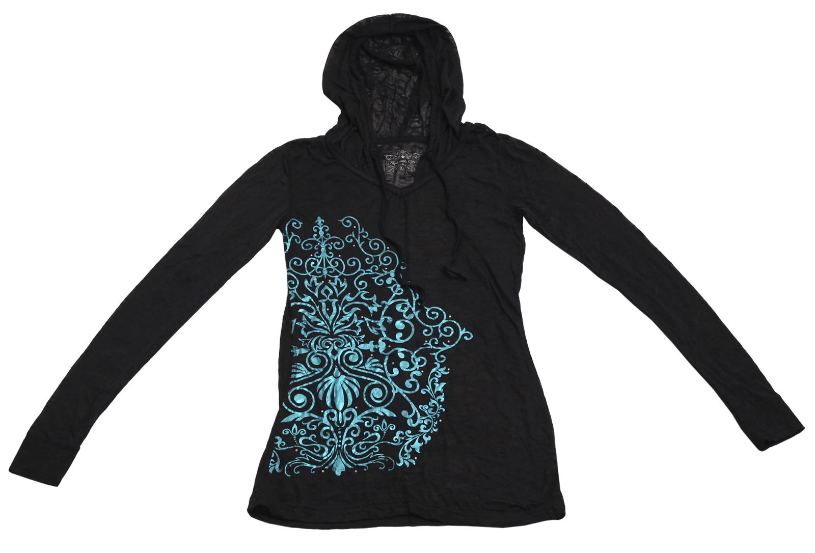 Молодежное модное худи Panhandle Slim с броским контрастным орнаментом
