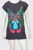 Молодёжное серое женское платье с бабочкой от Natyra