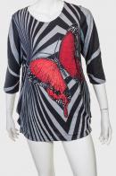 Молодежное укороченное платье-туника от Marie Claire