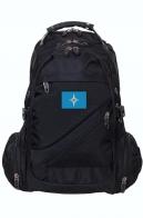 Молодежный черный рюкзак с эмблемой МЧС