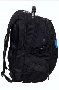 Заказать молодежный черный рюкзак с эмблемой МЧС