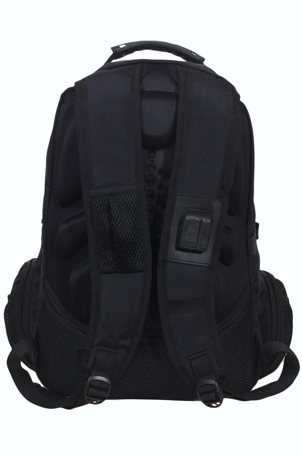 Молодежный черный рюкзак с эмблемой МЧС купить онлайн