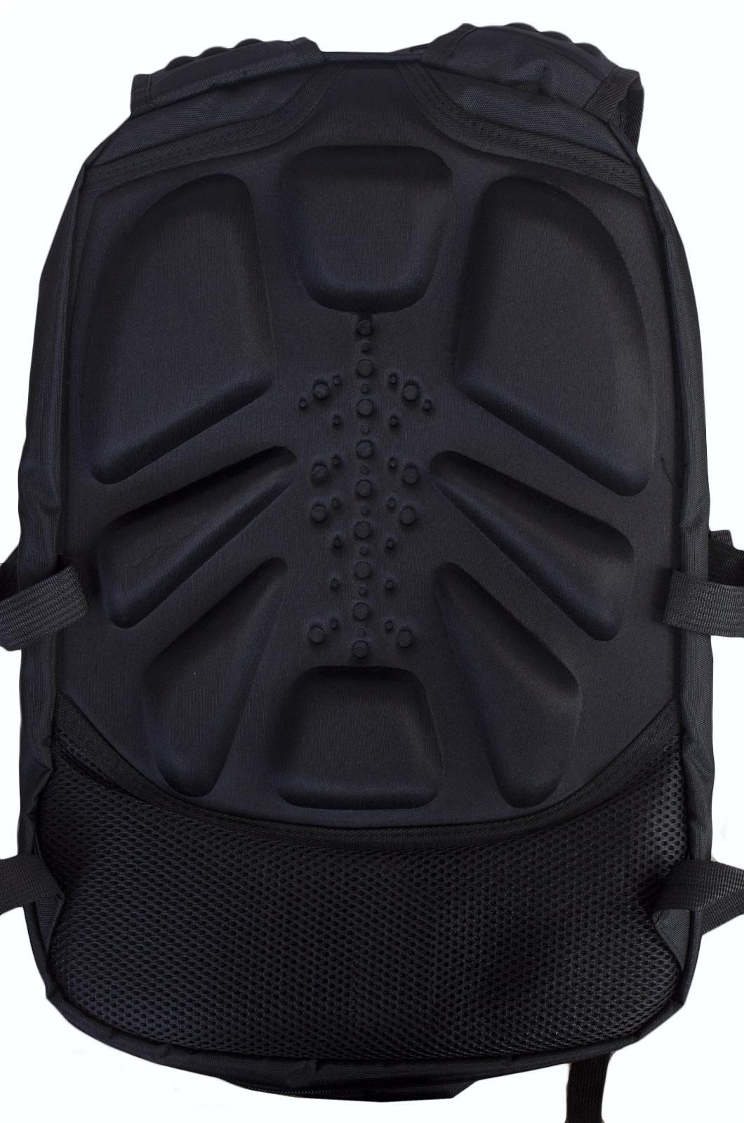 Молодежный черный рюкзак с эмблемой МЧС купить в подарок