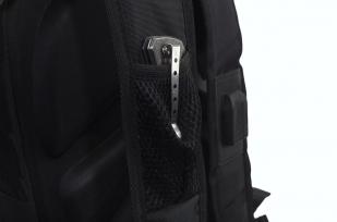 Молодежный черный рюкзак с эмблемой МЧС купить с доставкой