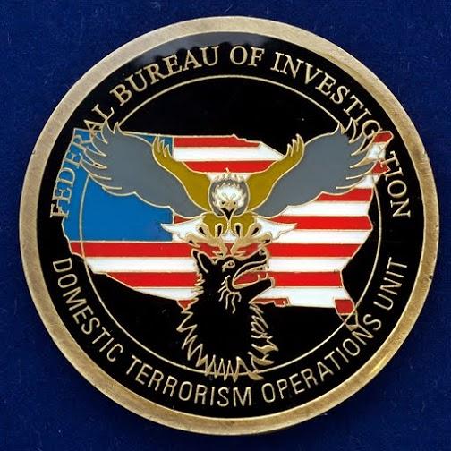 """Монета ФБР """"Отдел внутренних операций по борьбе с терроризмом"""""""