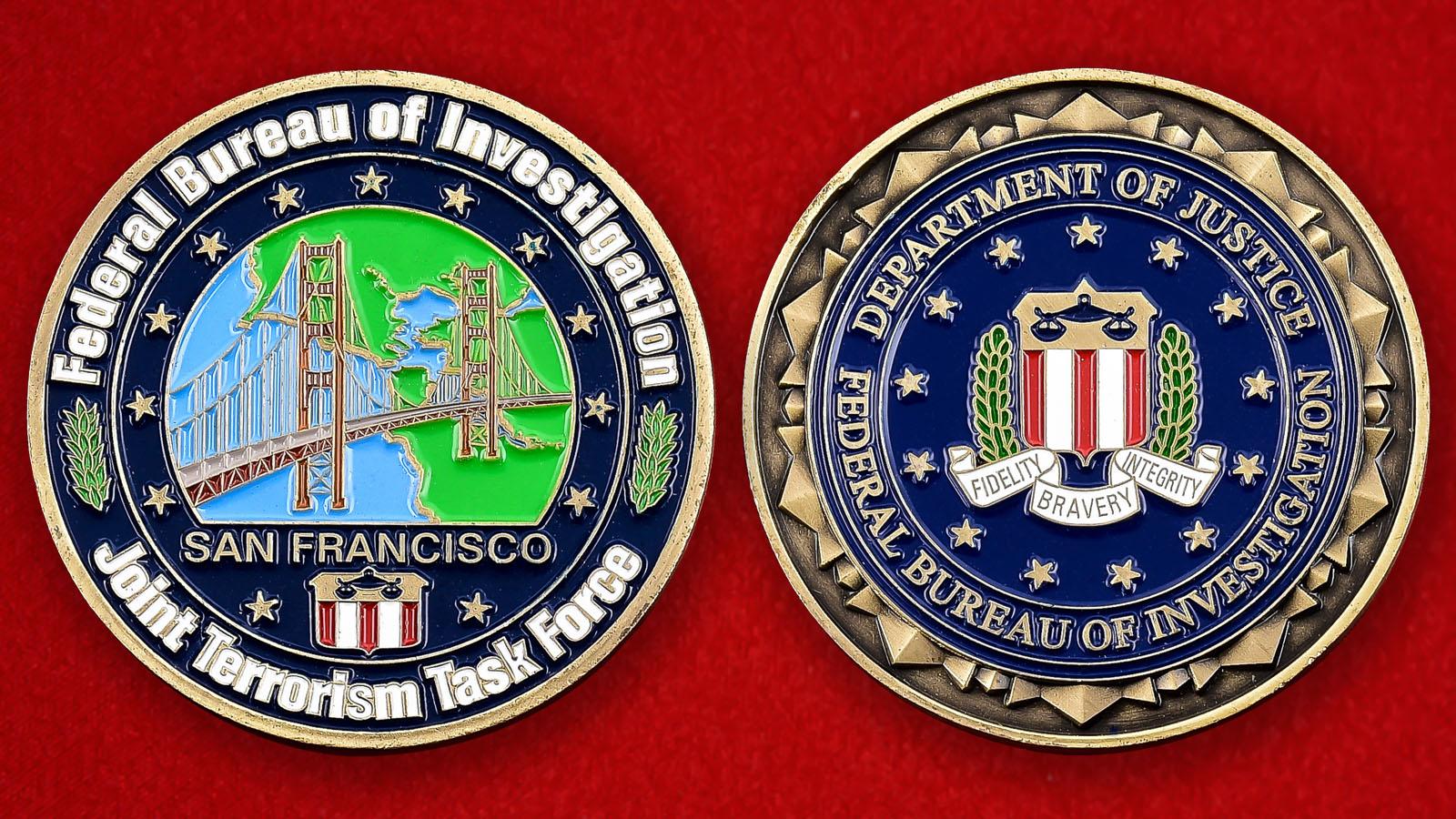 """Монета ФБР """"Целевая группа по борьбе с терроризмом в Сан-Франциско"""""""