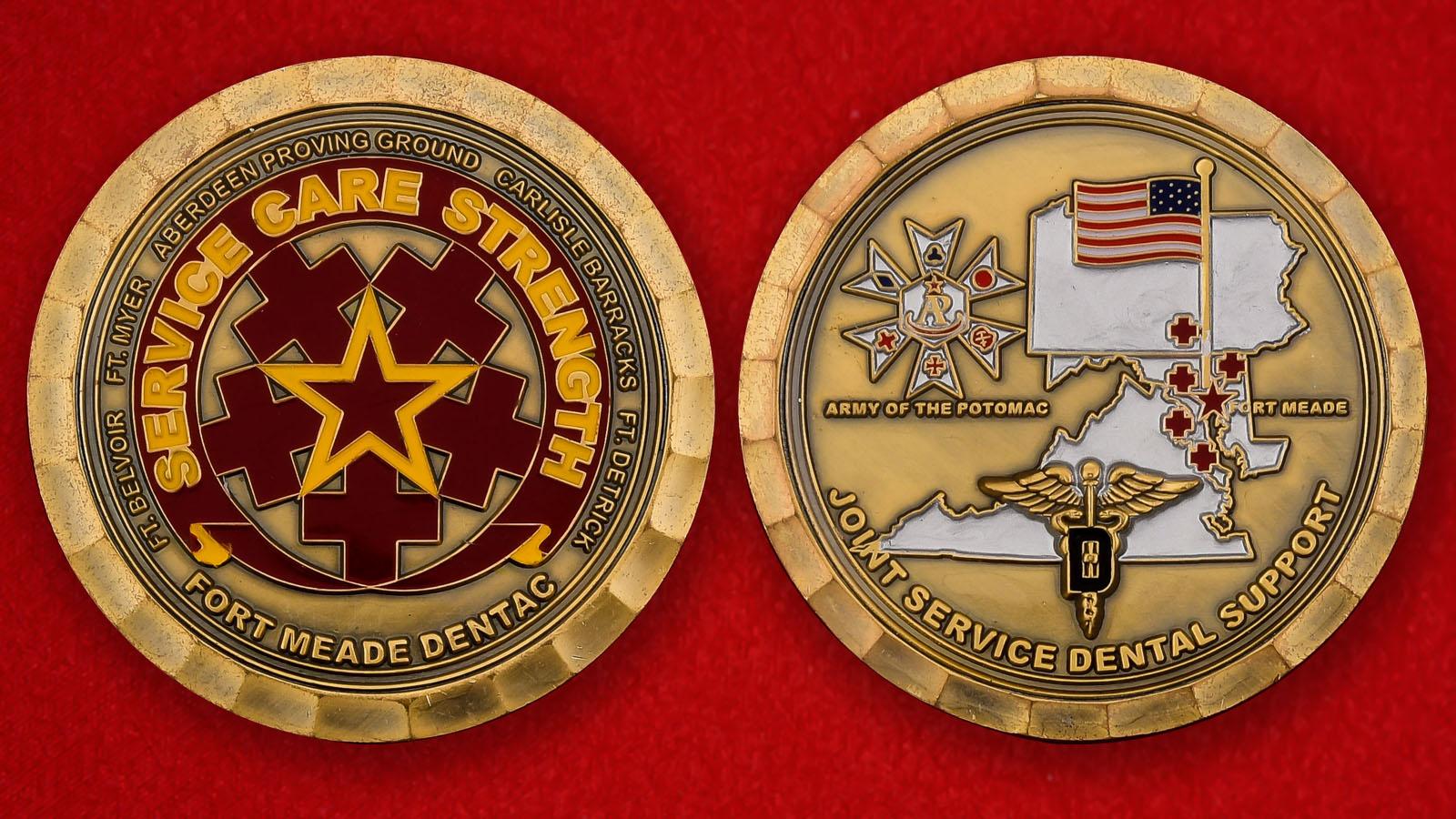 """Монета США """"Стоматологическая служба Форт-Мид"""""""
