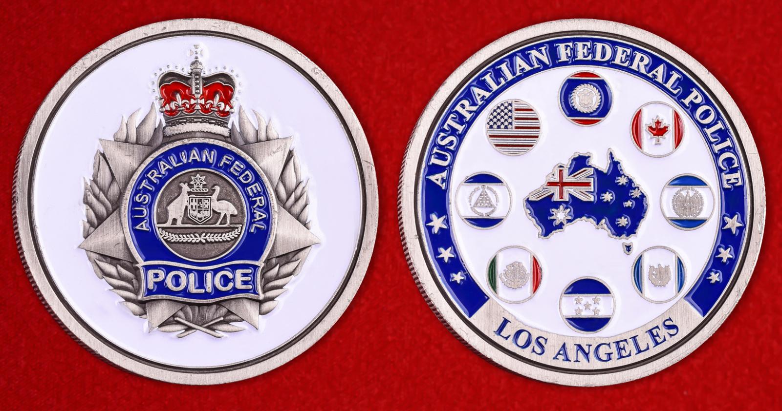 """Монета """"Представительство Австралийской Федеральной полиции в Лос-Анжелесе"""""""