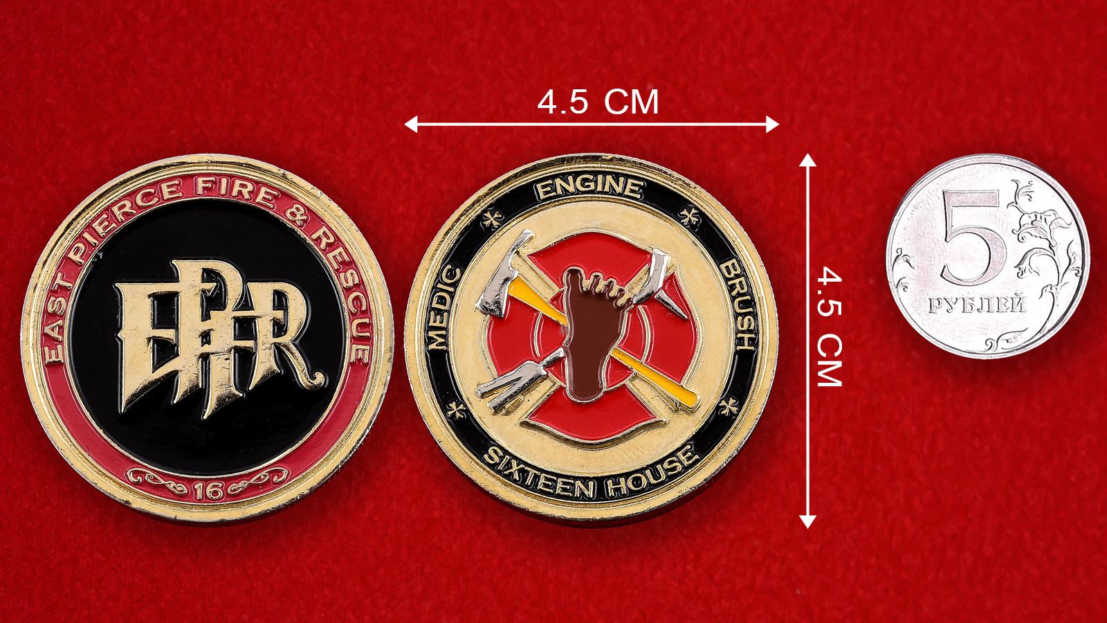 """Монета США """"16 станция Добровольной Пожарной охраны"""""""