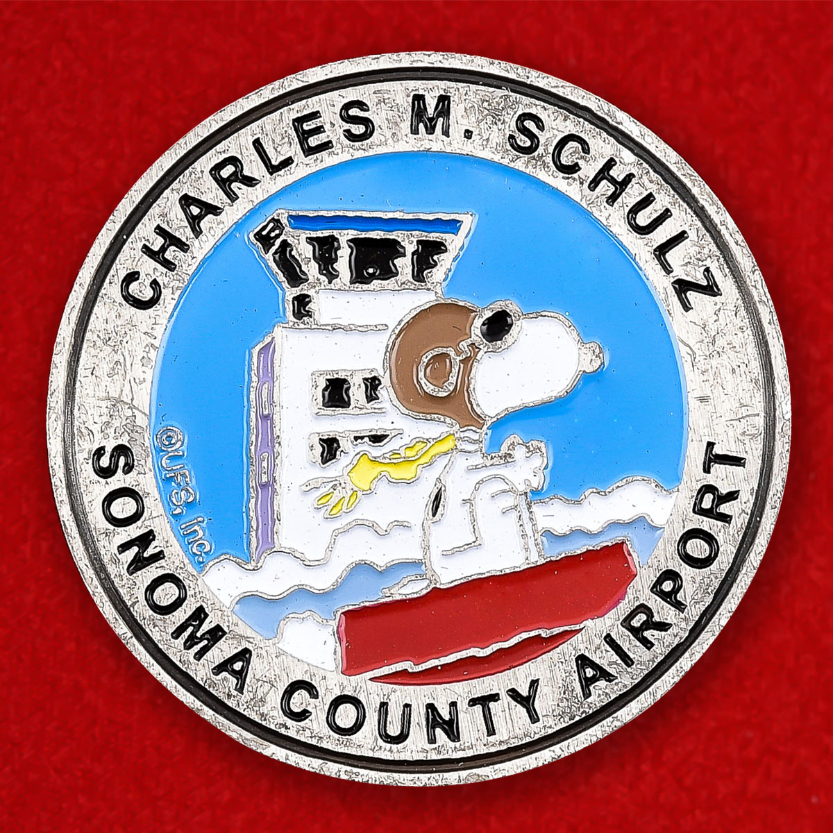 """Монета США """"Аэропорт  имени Чарльза М. Шульца, округ Сонома, Калифорния"""""""