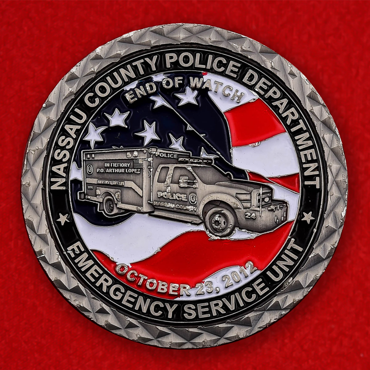 "Монета США ""Аварийная служба полицейского департамента округа Нассо"""
