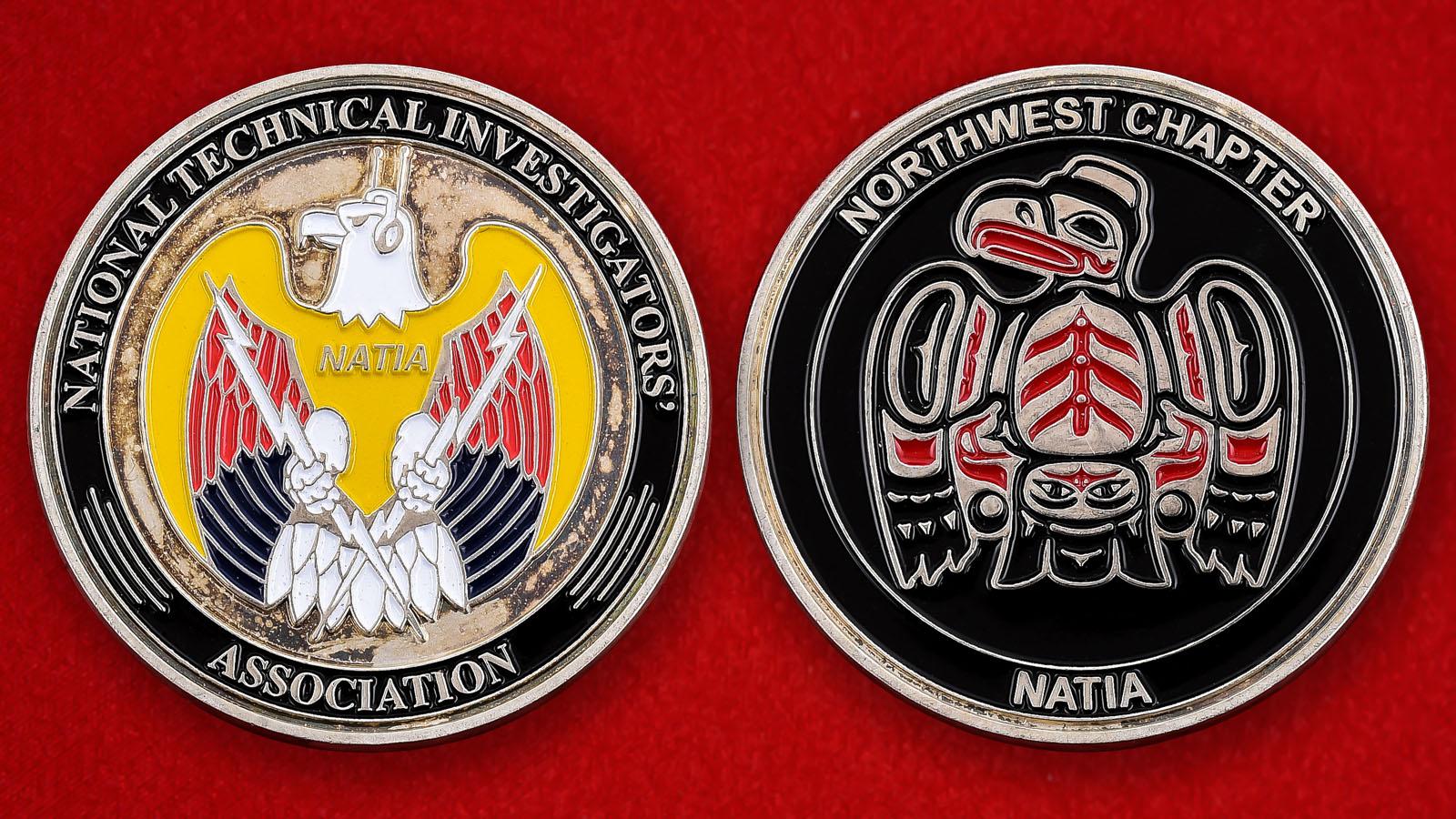 """Монета США """"Национальная ассоциация технических следователей"""""""
