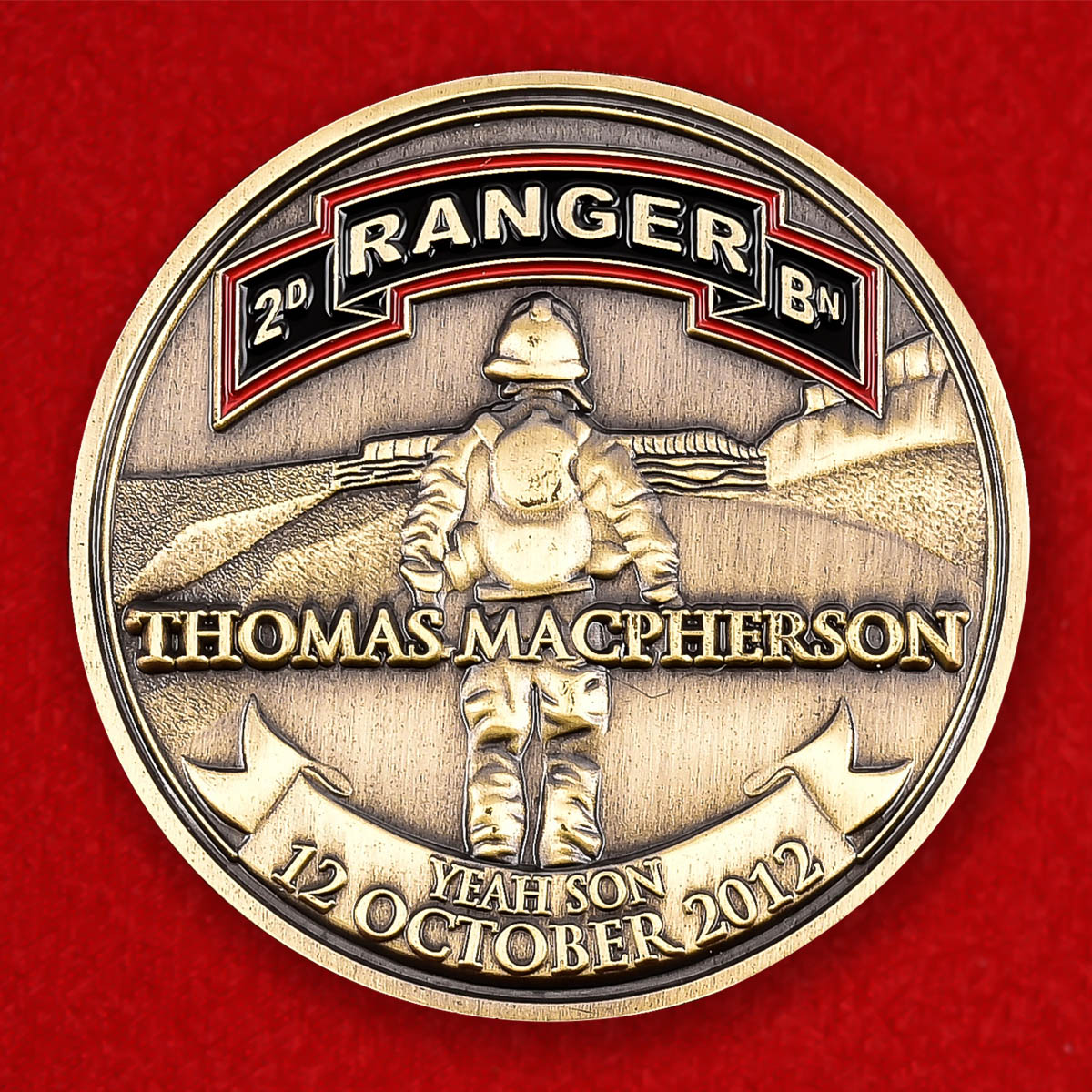 "Монета США ""Памяти сержанта Томаса Макферсона, 2 батальон рейнджеров"""