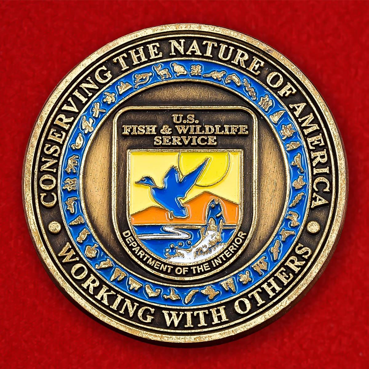 """Монета США """"Служба охраны природы Министерства внутренних дел"""""""