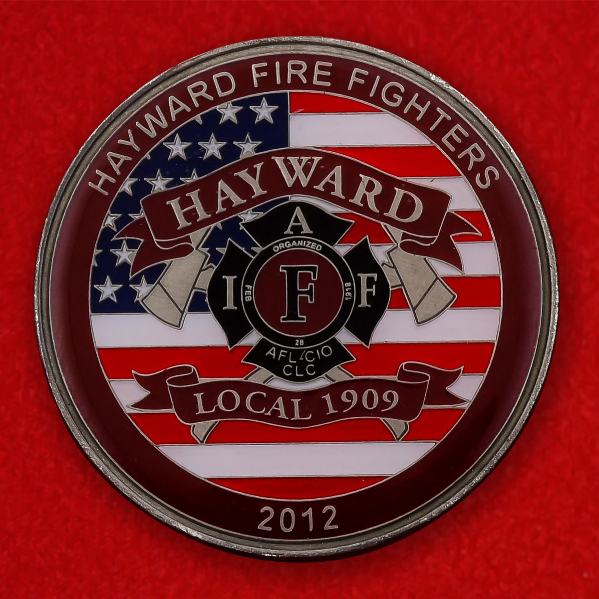 """Монета США """"Станция Пожарной охраны Хейворда, Калифорния"""""""