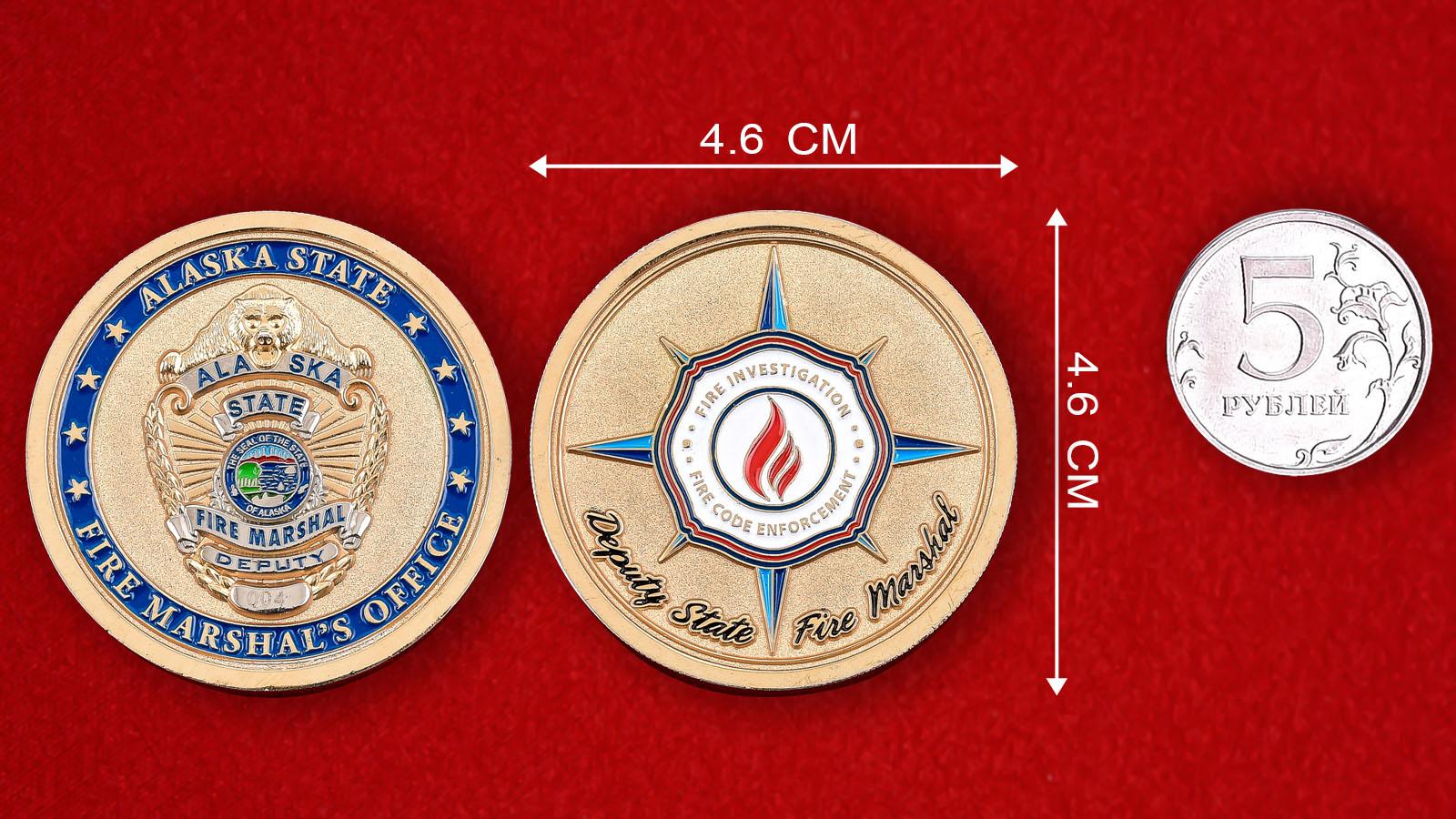 """Монета США """"Станция Пожарной охраны штата Аляска"""""""