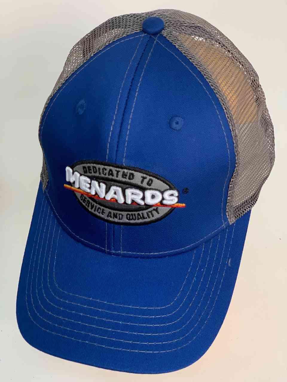 Синяя бейсболка с сеткой MENARDS