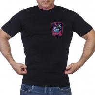 Мужская черная футболка «МВД»
