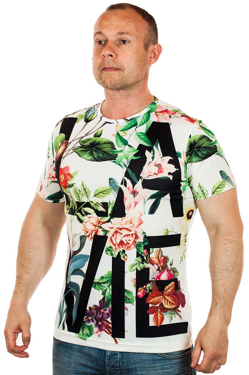 Мужская футболка с цветами. ШИК 2017
