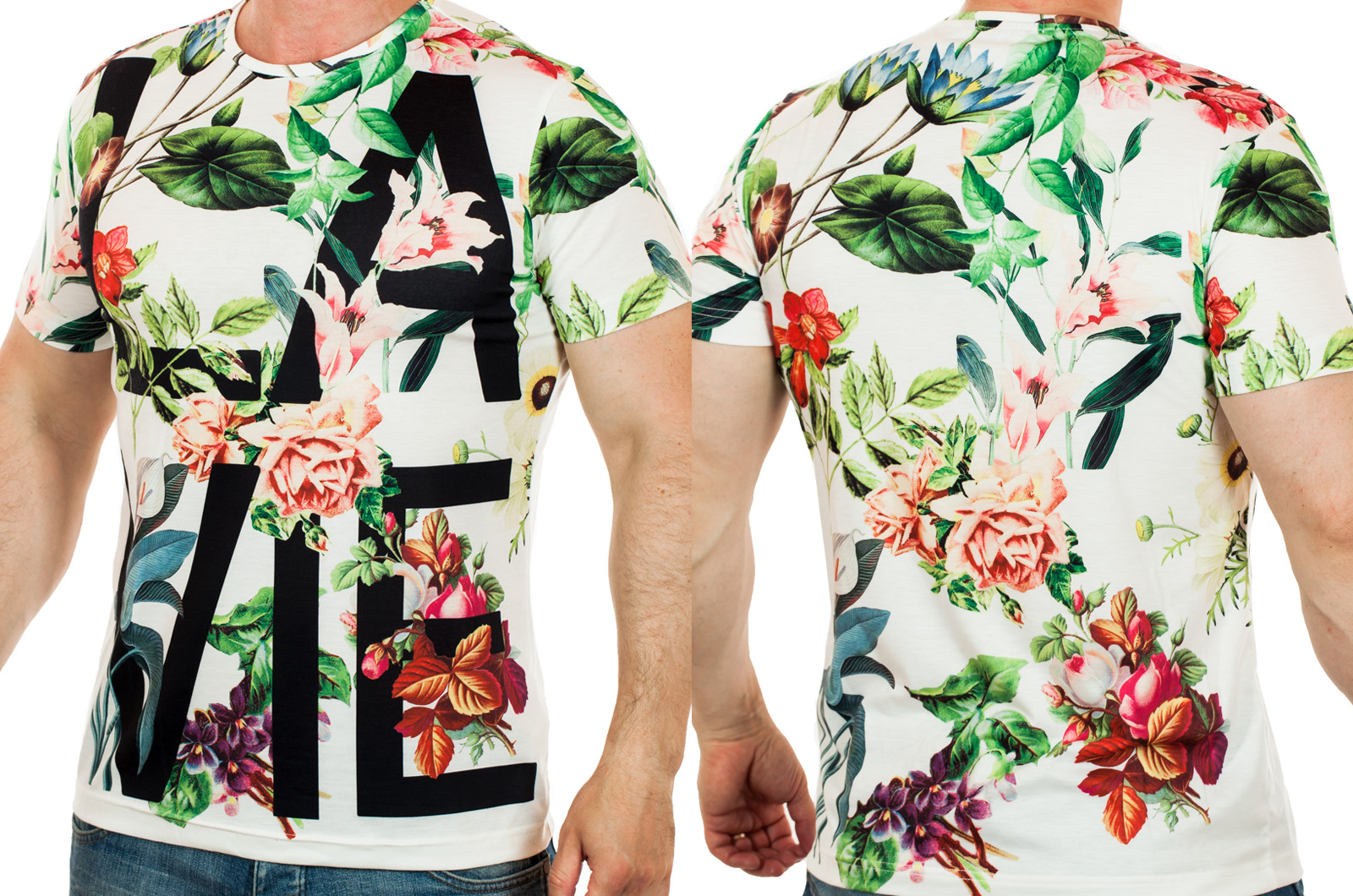 Мужская футболка Splash в свежем стилизованном дизайне FLEUR-DE-LIS