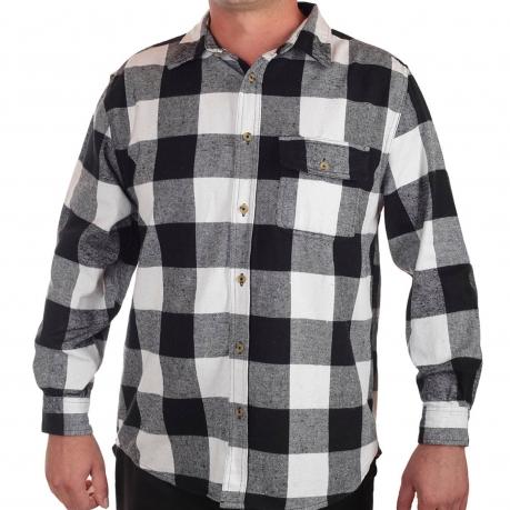 e9ba03a009b Мужская рубашка Old Mill в черно-белую клетку