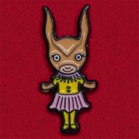 """Мультяшный значок """"Девочка в костюме кролика"""""""