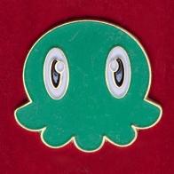 """Мультяшный значок """"Зелёный осьминожек"""""""